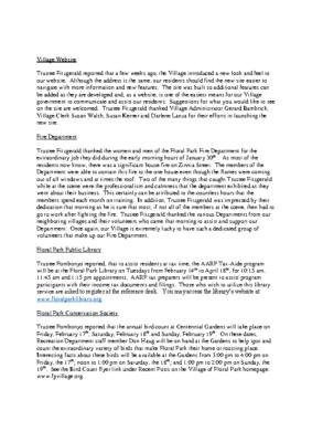 Board Reports – 02-07-2017 Board of Trustees Meeting