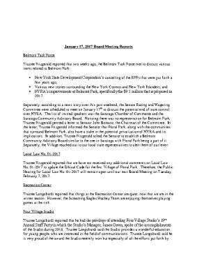 Board Reports – 01-17-2017 Board of Trustees