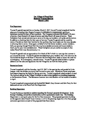 Board Reports 03-07-2017