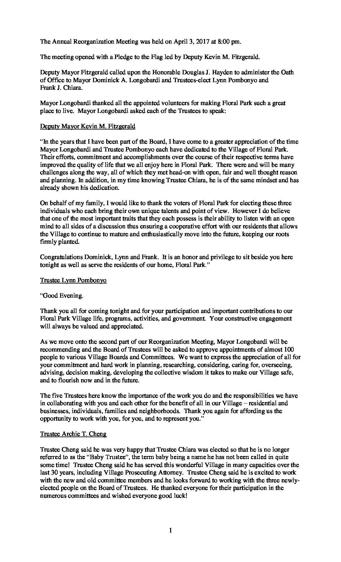 Minutes - 4-3-2017 Reorganization