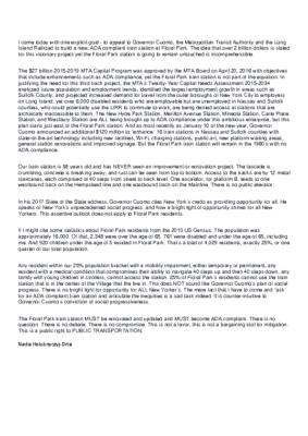 Statement from Hillcrest President Nadia Holubnyczyj-Ortiz