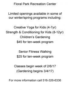class openings 2017