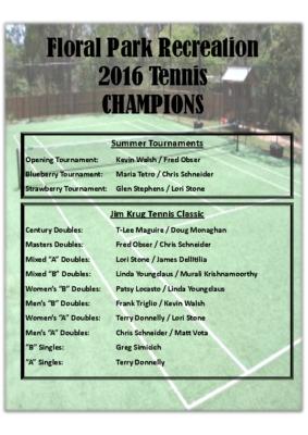 Tennis Champs 2016