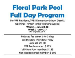 Full Day Program Openings