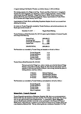 Minutes – 01-02-2018 Board of Trustees Meeting