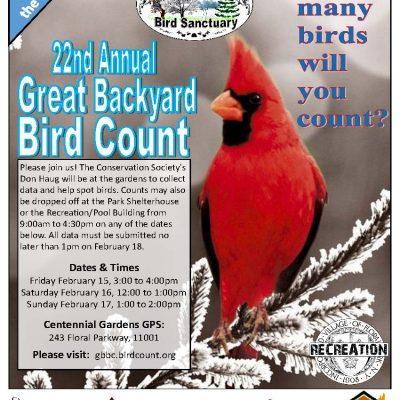 22nd Annual Great Backyard Bird Count