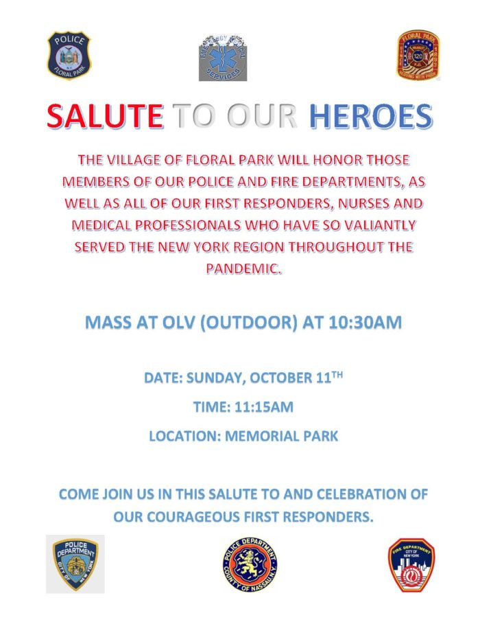 Salute To Our Heroes Sunday October 11th