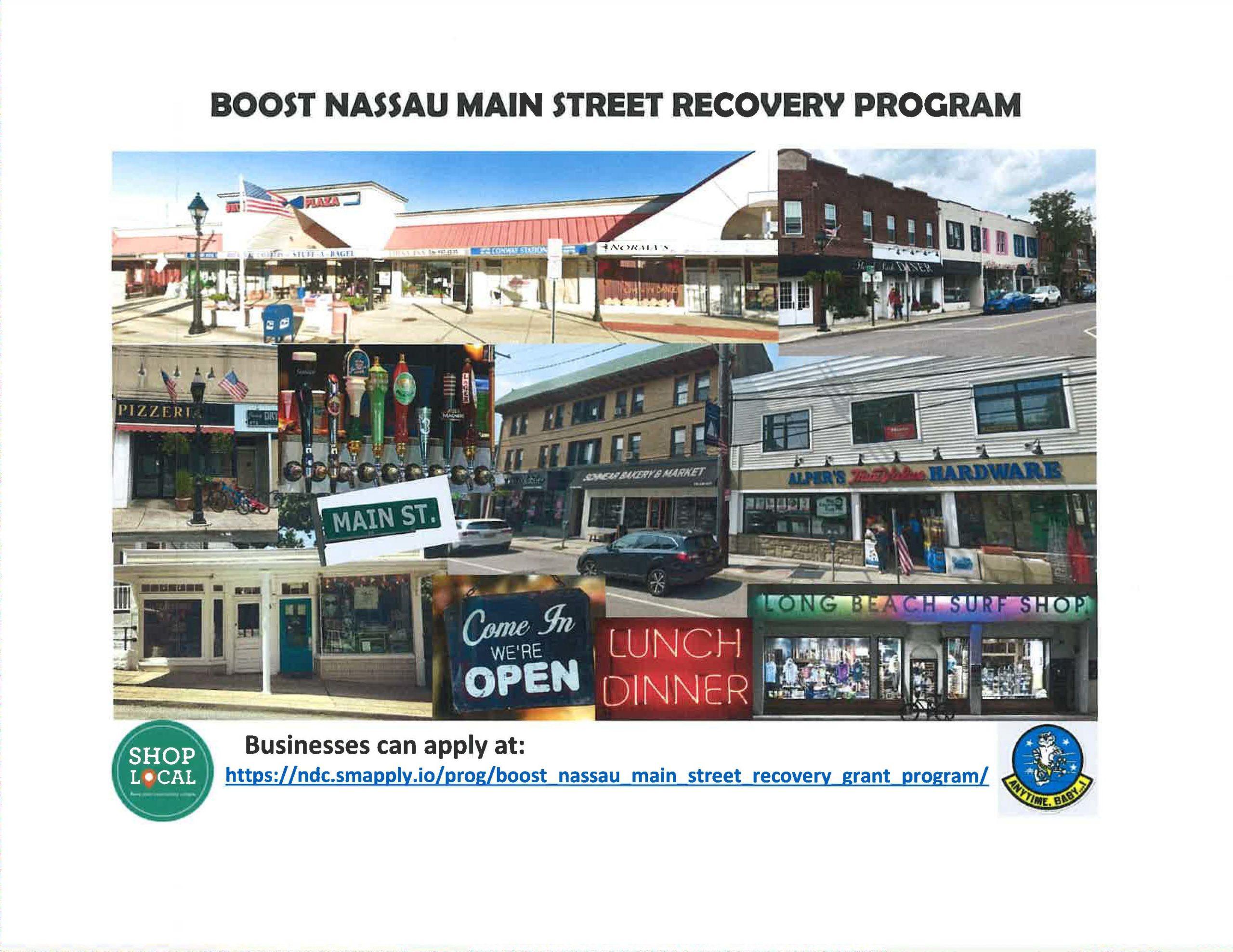 Nassau County - Boost Nassau Main Street Recovery Program
